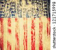 American flag on old paper - stock photo