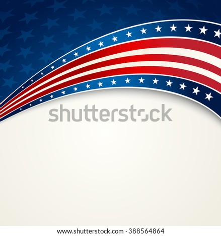 American Flag, patriotic background for Independence Day, Memorial Day. Fourth of July. USA patriotic banner - stock photo