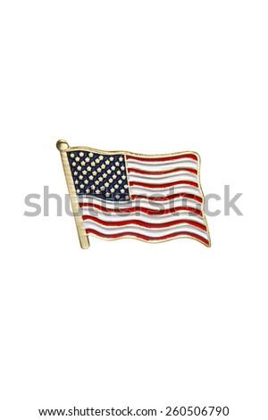 American Flag Pin - stock photo