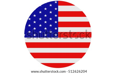 American flag , USA national flag illustration symbol.
