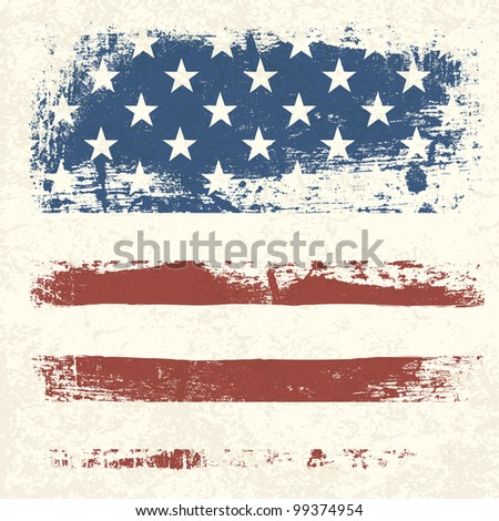 American flag vintage textured background, rasterized version. - stock photo