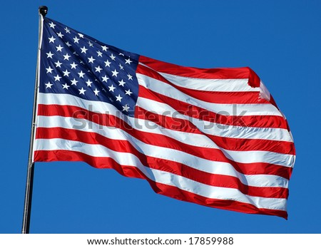 American Flag Waving Proud - stock photo