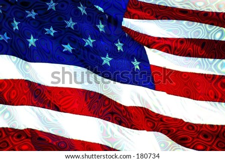 American Flag with Texture