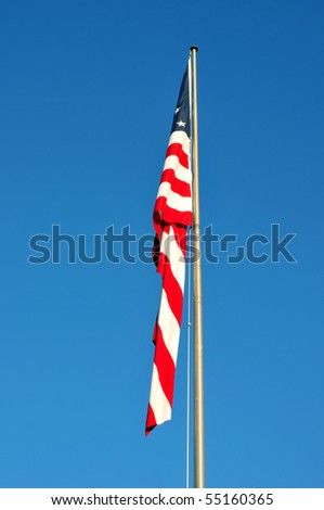 American Flag without Wind to Wave - stock photo