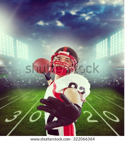 American Football. - stock photo