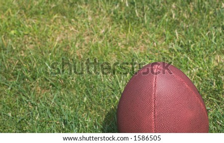 American football against a grass background - stock photo