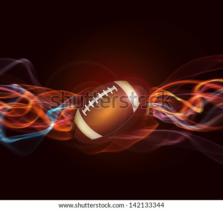 American football background - stock photo