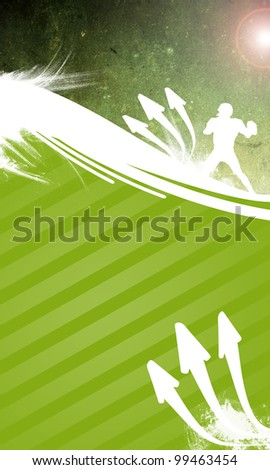American football background with space (poster, web, leaflet, magazine) - stock photo