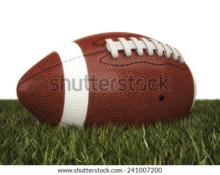 american football ball 3d background
