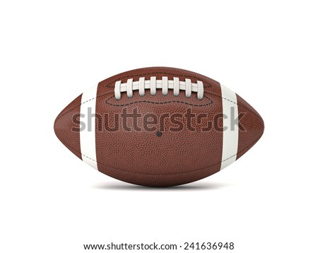 american football ball 3d background - stock photo