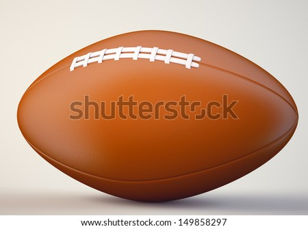 American football ball. 3d illustration