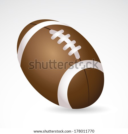 American football ball isolated on white background.  - stock photo