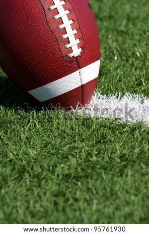 American Football Close up on Field - stock photo
