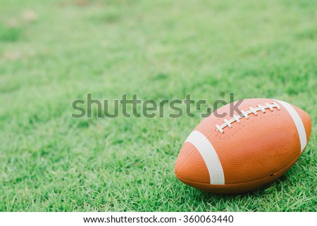 American Football Close up on Field,Select focus.