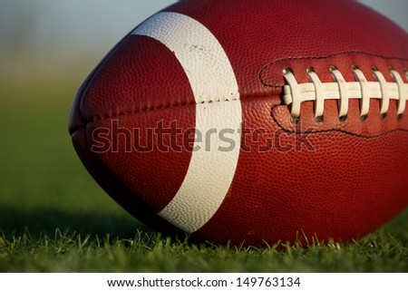 American Football Close Up on the Field