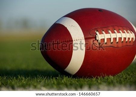 American Football Close Up on the Field with room for copy