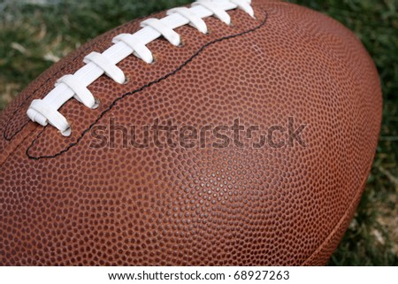 American Football close up with room for copy