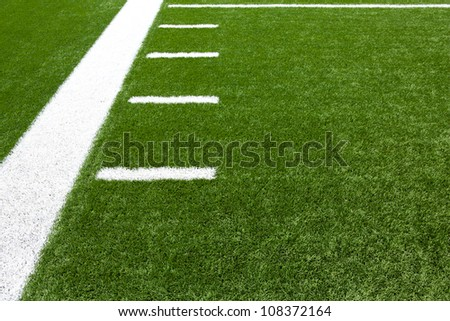 American Football Field Yard Lines with room for copy