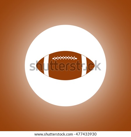 American Football. Flat design style