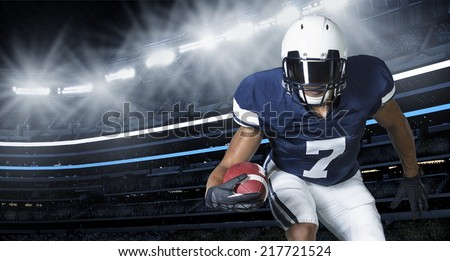 American Football Game Action Photo - stock photo