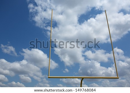 American Football Goal Posts or Uprights - stock photo