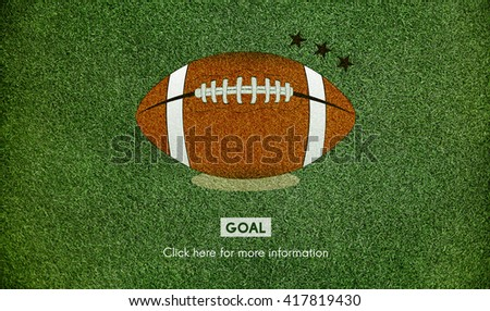 American Football Goal Sport Game Concept