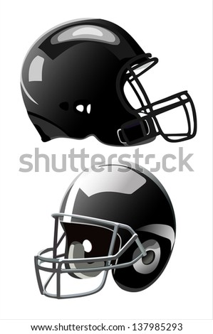 American football helmet isolated on white