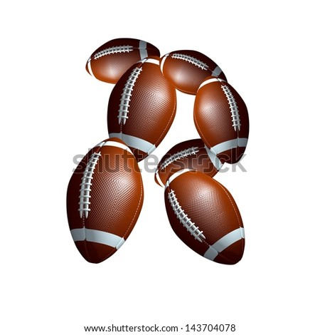 american football icon alphabet capital letter R