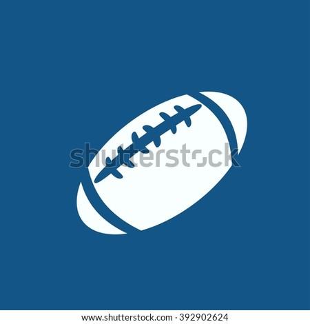 american football icon isolated - stock photo