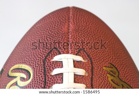 American football isolated against a white background - stock photo