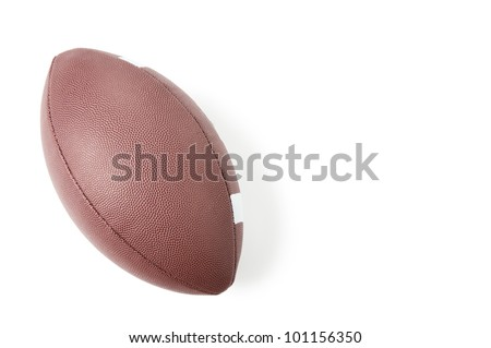 American football, isolated over white, copyspace