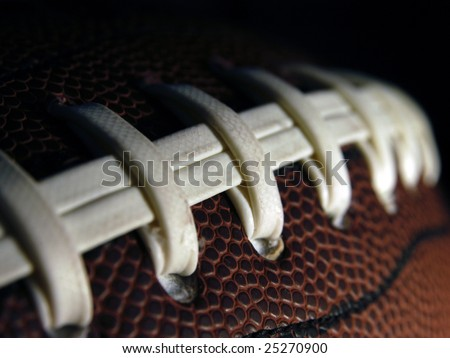 American Football Macro - stock photo