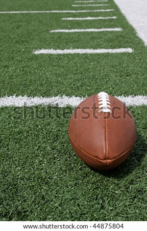 American Football near the hash marks