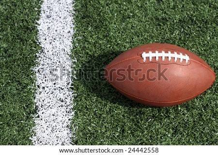 American football near the yardline