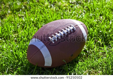 American football on field - stock photo