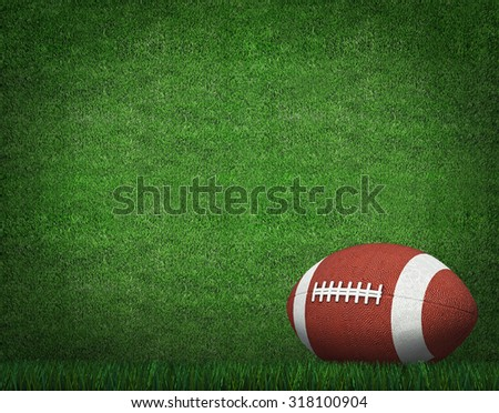 American Football on Field with yard lines in the distance