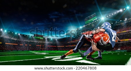 american football player in action - stock photo