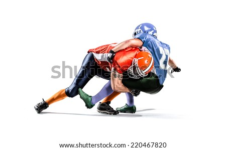 american football player isolated  - stock photo