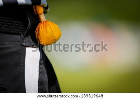 American football referee flag - stock photo
