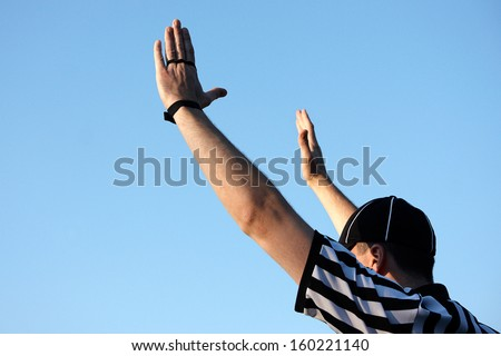 American football referee, rugby referee - stock photo