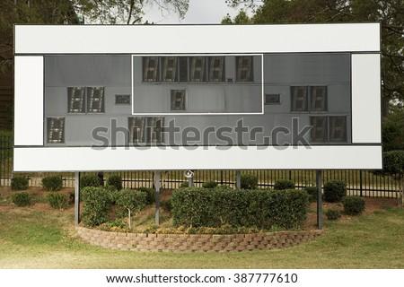 American football scoreboard - stock photo