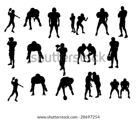 american football silhouettes