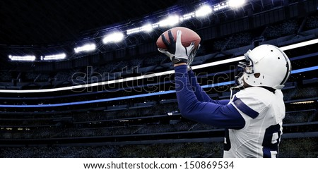 American Football Touchdown Catch - stock photo