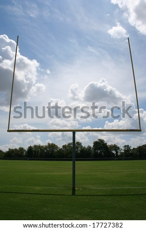 American football uprights - stock photo