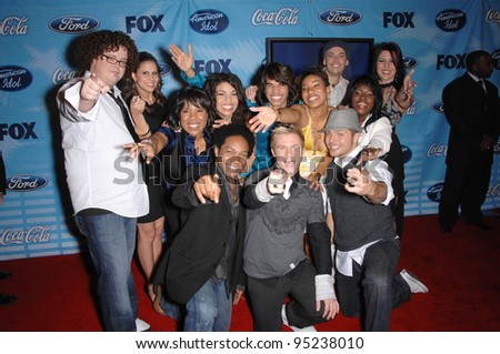 American Idol Top 12 Finalists at party at the Pacific Design Centre to celebrate the Top 12 Finalists of this year's American Idol. March 9, 2007  Los Angeles, CA Picture: Paul Smith / Featureflash