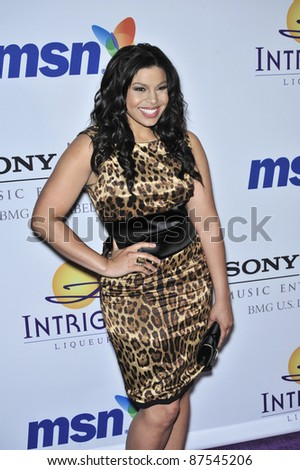 American Idol winner Jordin Sparks at music mogul Clive Davis' annual pre-Grammy party at the Beverly Hilton Hotel. February 9, 2008  Los Angeles, CA Picture: Paul Smith / Featureflash - stock photo