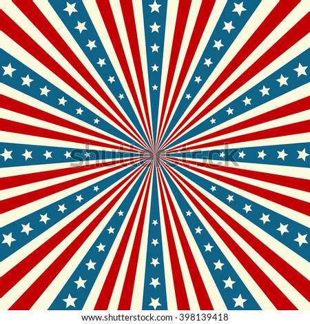 American Independence Day Patriotic background. illustration - stock photo