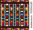 American indian  ethnic pattern with multicolored elements, abstract art. - stock photo