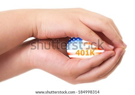 American 401K financial retirement plan concept - stock photo