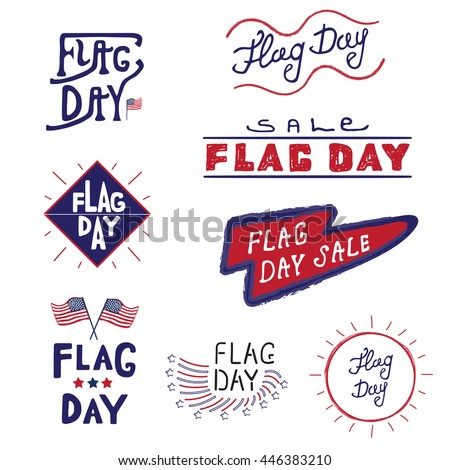 American logos labels flag day united stock illustration 446383210 american logos and labels flag day of the united states 4th of july greeting card m4hsunfo